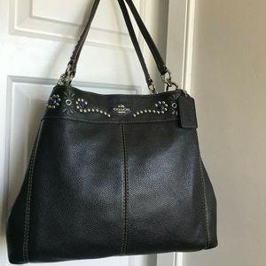 Coach Lexy Shoulder Bag Studded Black
